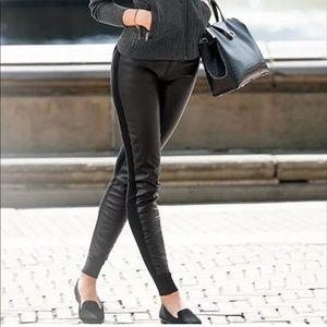 PINK Victoria's Secret Black Faux Leggings Medium